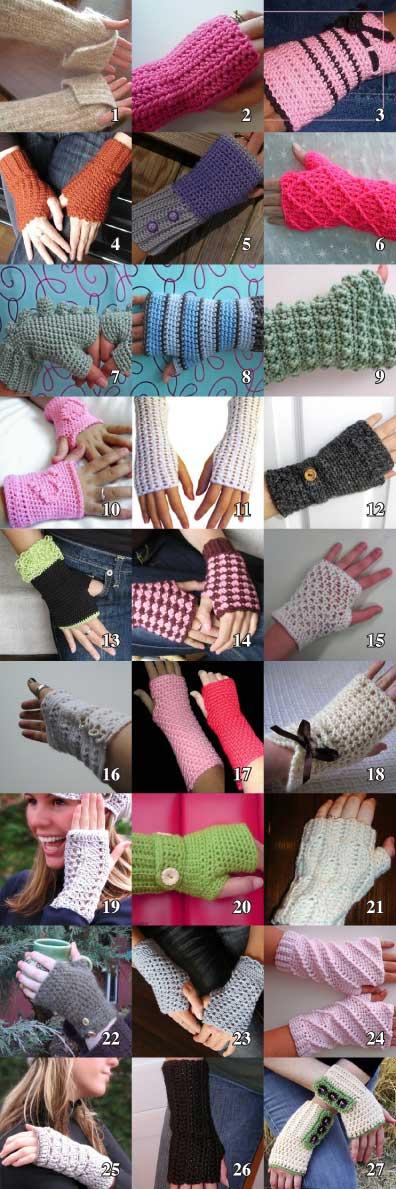 CrochetKitten.com: Charmed Wrist Warmers - Crochet Kitten